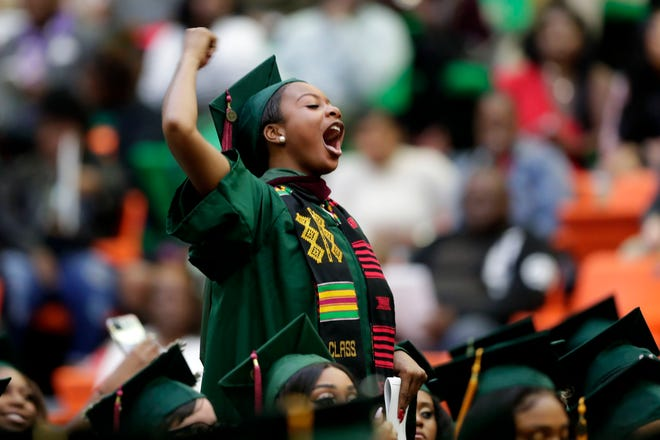 Florida A&M students celebrated their achievements during the fall commencement ceremony on Friday, Dec. 13, 2019.