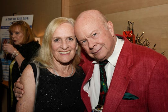 """Joan Crawford and Jim Forbes at Hibiscus Children's Center's """"Broadway at the Shores"""" on Dec. 6, 2019, at Hutchinson Shores Resort & Spa, Stuart."""