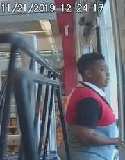 Crystal Arlene Brown has been identified as a robbery suspect by the Port St. Lucie Police Department. She appeared on a surveillance camera on November 21, 2019.
