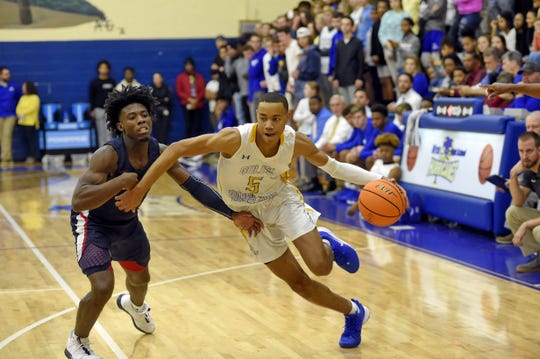 Wren High School hosted Powdersville in boys varsity basketball Saturday, Dec. 14, 2019.