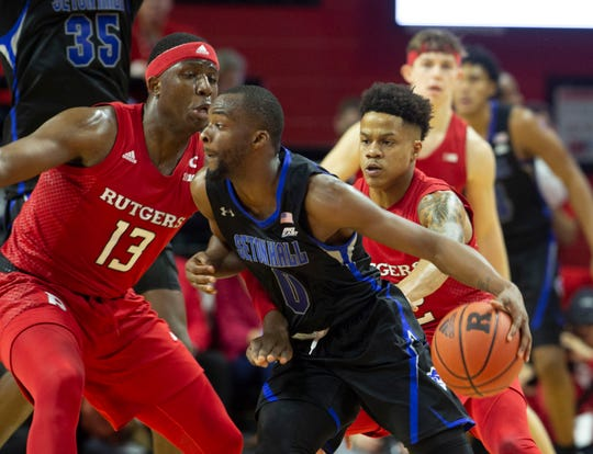 Seton Hall Basketball at Rutgers in Piscataway, NJ on 12/12/19.