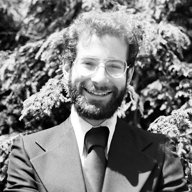 Jeffrey Suskin in the late 1970s or early 1980s in front of his parents home