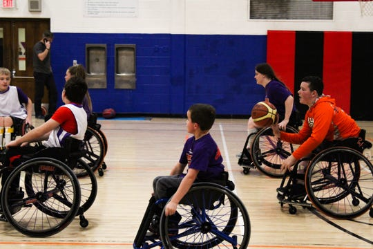 The Rolling Panthers practice at the Waterloo YMCA Dec. 14. Parents of the players say their kids count down the days until the next practice.