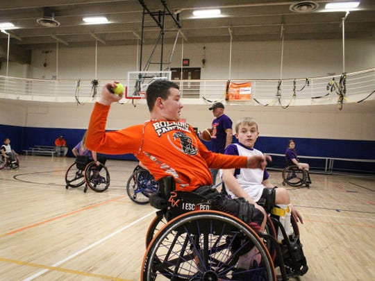 The Rolling Panthers is much more than an opportunity for exercise and competition. Players like AJ Fitzpatrick, 15, who one mom said she expects will be in the Paralympics one day, have the chance to receive college scholarships for their adaptive sports skill.