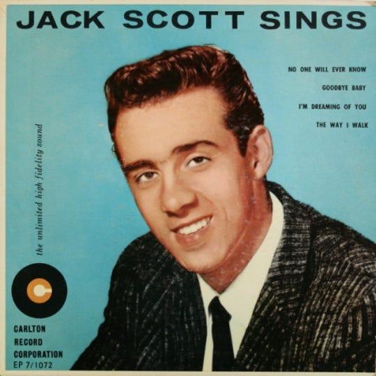 "The cover of Jack Scott's 1958 EP, ""Jack Scott Sings"""
