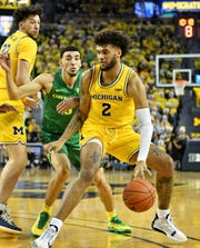 Isaiah Livers and Michigan fell to Oregon in overtime this past season.