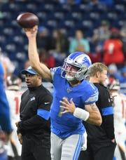 Lions quarterback Kyle Sloter