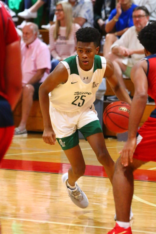 Fort Myers faced Chaminade-Madonna in the City of Palms Premiere on Saturday, Dec. 14. Fort Myers' Javian McCollum.