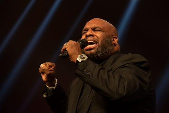Pastor John Gray speaks during the Vision 2020 event at Relentless Church Sunday, Dec. 15, 2019.
