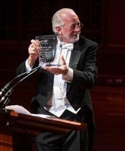 Nashville Symphony President & CEO Alan D. Valentine receives an honorary Harmony Award at the 2019 Symphony Ball on December 14, 2019, at Schermerhorn Symphony Center.