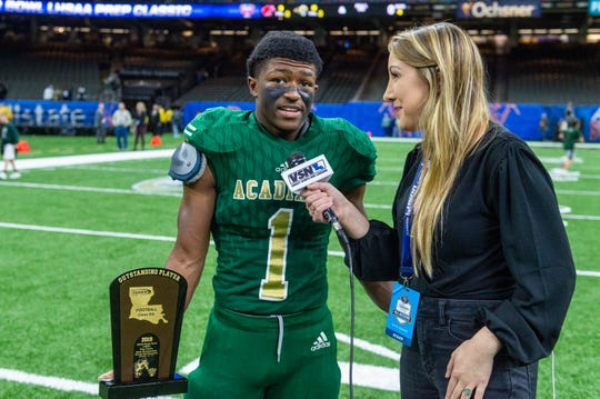 Dillan Monette was named Outstanding Player in the Acadiana Wreckin' Rams' Class 5A state championship win over Destrehan on Saturday in New Orleans.