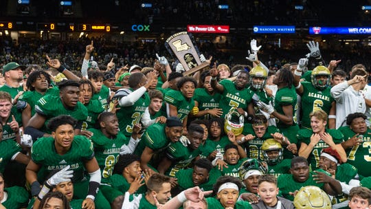 The Acadiana Wreckin Rams take down the Destrehan Wildcats to win the State Div 5A Championship game. Saturday, Dec. 14, 2019.