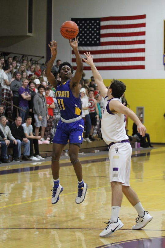 Ontario's Shaquan Coburn shouldered the scoring load in a win over Orrville with 15 points.