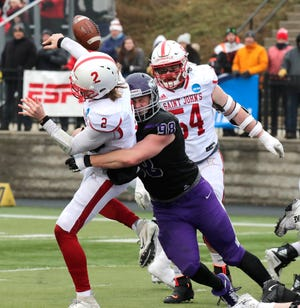 Justin Hansen and the UW-Whitewater defense got to St. John's quarterback Jackson Erdmann last week and will try to do the same Friday night against prolific North Central QB Broc Rutter, who has thrown for 54 touchdowns this season.