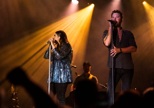 Lady Antebellum performs at the live fest being held at QBE golf tournament on Saturday, December 14, 2019, at the Tibur—n Golf Club in Naples.