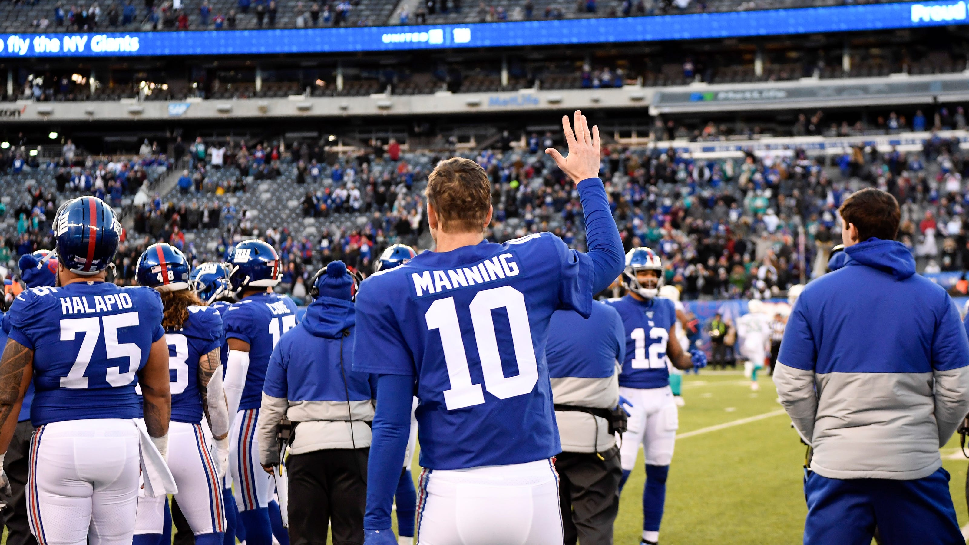 Eli Manning gets emotional in possible New York Giants farewell
