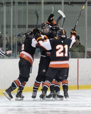 Brother Rice scores a season high 14 goals in the playoff opener against West Bloomfield, a file photo from the Warriors game against Hartland.