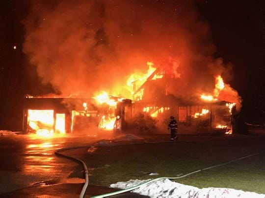 Multiple fire agencies responded to a house fire in Rhinebeck on Welwyn Lane as seen on Saturday, Dec. 14, 2019