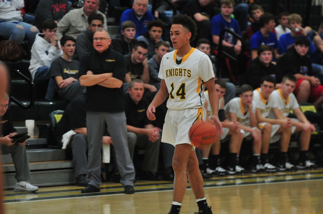 Northeastern improved to 4-0 on Saturday night with a 77-58 win over Tri-Village (OH) on Saturday night. Kolden Vanlandingham (14) posted a career-high 39 points for the Knights.