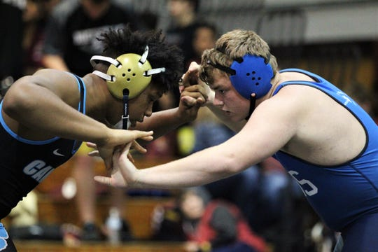 Godby wrestles at the Capital City Classic wrestling tournament at Chiles High on Dec. 14, 2019.