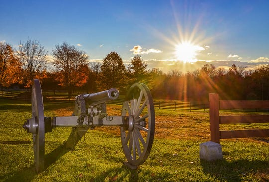 "Bart Feldman's ""A New Dawn: Gettysburg Cannon"" won the Shutterbugs of South Jersey's landscape category."