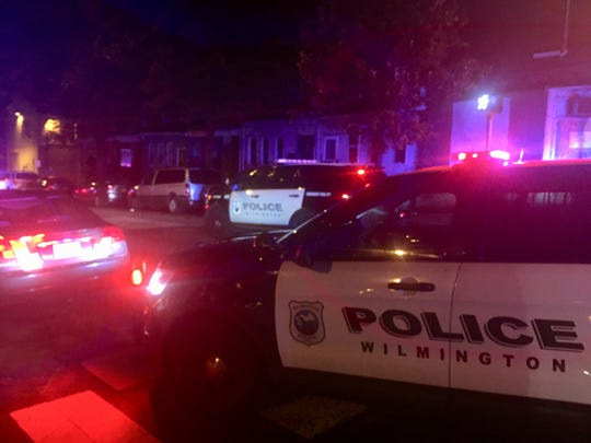 Wilmington Police respond to a shooting at the 100 block of North Harrison Street.