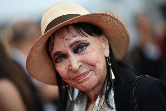 Anna Karina arrives for the opening ceremony of Cannes Film Festival on May 8, 2018. The actress has died from cancer at age 79.