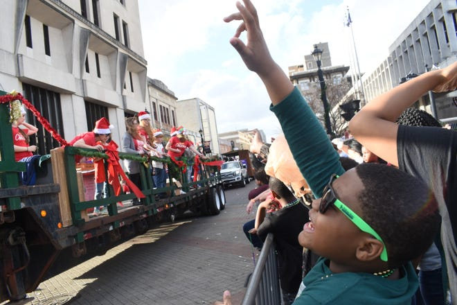 The Alexandria Christmas Parade was moved downtown to become part of Winter Fête this year.