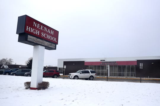Under a proposed plan for facilities upgrades and a potential $114.9 million referendum, Neenah High School, photographed on Friday, would be converted to an intermediate and middle school serving grades 5-8.