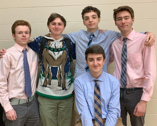 Student Voices December video winners, Brian S., Rodney W., Liam S., and Connor P.