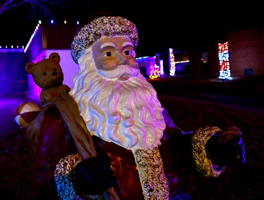 A statue of Santa Claus greets visitors to the Melvin Martin Center for Safety.