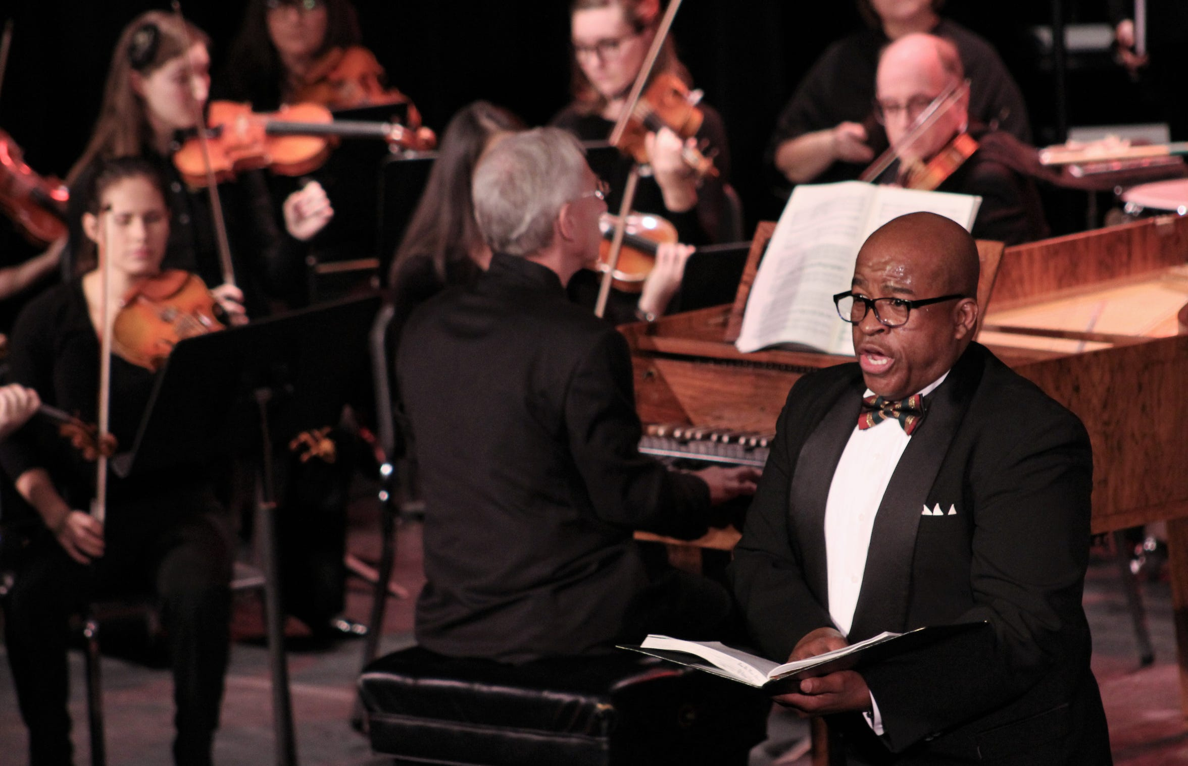 """Samuel Cook sings his part in Abilene Opera Association's presentation of """"Messiah"""" in December at the Paramount Theatre."""