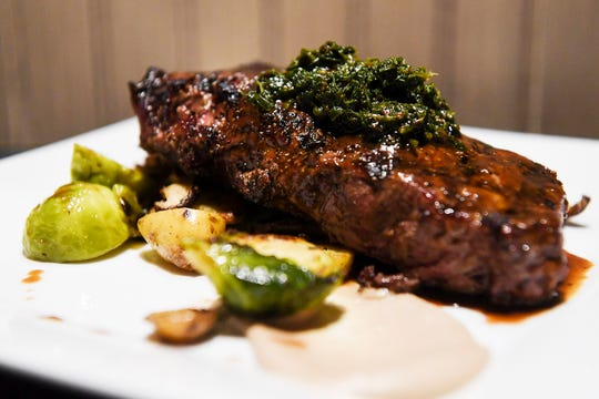 Storm Rhum Bar and Bistro's New York strip steak with chimichurri December 10, 2019.