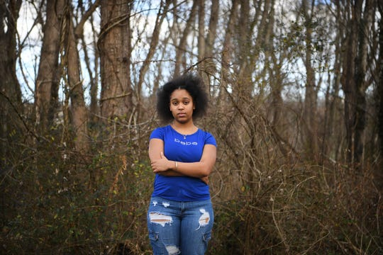 Aleah Crawford, 15, is a sophomore at Erwin High School and one of the students protesting clothing with Confederate symbols not being banned by the school's dress code