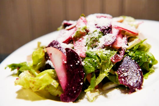 Storm Rhum Bar and Bistro's mixed greens salad with beets and apples December 10, 2019.