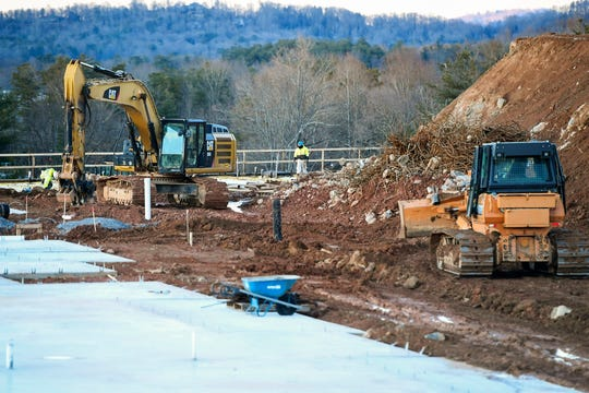 A construction site behind Bojangles on Airport Road in Arden December 11, 2019.
