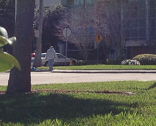 A man walked up to the courthouse in Viera with a gun on Feb. 28, 2014.