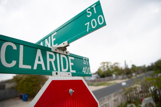 The 500 block of Claride Street where a triple homicide accred Friday, Dec. 13, 2019.