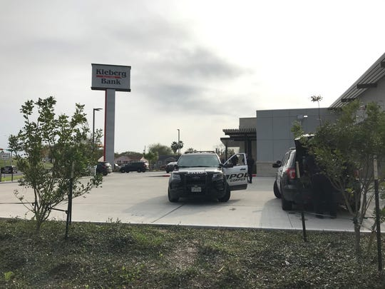 A 43-year-old man was detained by Corpus Christi police after a bank robbery on Horne Road.