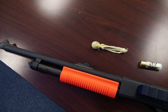 New less-lethal beanbag shotguns were introduced to the Rockport Police Department on Thursday, Dec. 12, 2019.
