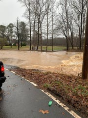 Flooding on Louise Road in Montgomery County on Monday, Dec. 16, 2019.