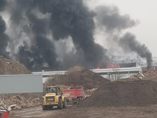A multi alarm fire has  been reported at the Bayshore Recycling Center in the Keasbey section of Woodbridge.