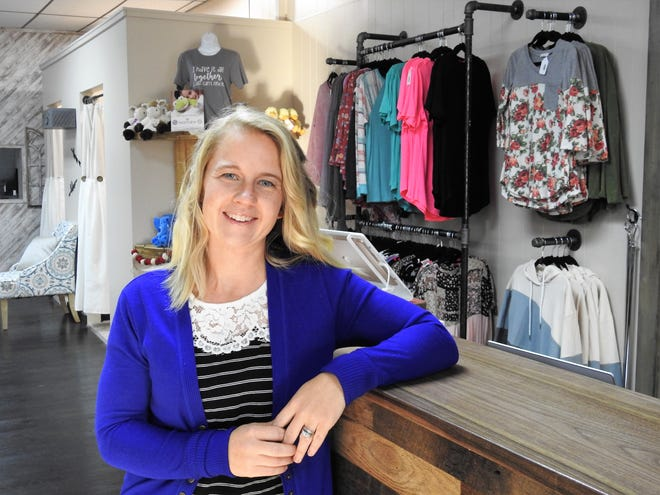Kayla Miller, a third grade teacher at Ridgewood Elementary School, recently opened Mint Ivy Boutique at 116 E. Main St., West Lafayette. It sells women's clothing sizes small to 3X and other items such as bags and candles.