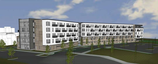 Level, the last apartment planned for the Bridge District, will have 114 units in five stories.