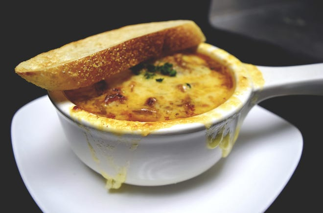 French onion soup at Essen on Main in Royal Oak.