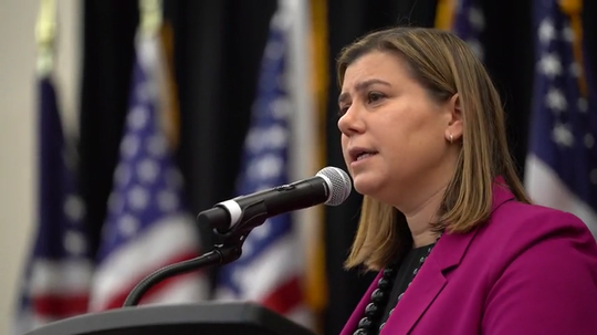 U.S. Rep. Elissa Slotkin explains impeachment decision of President Donald Trump during a contentious town hall meeting at Oakland University.