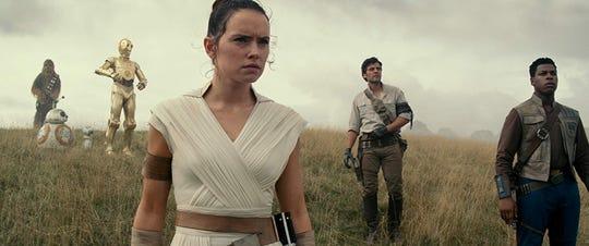 "Daisy Ridley, Oscar Issac and John Boyega in ""Star Wars: Episode IX - The Rise of Skywalker."""