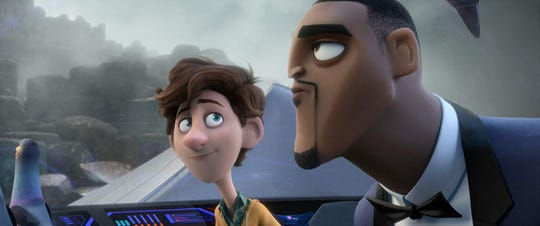 "Tom Holland and Will Smith voice characters in ""Spies in Disguise."""