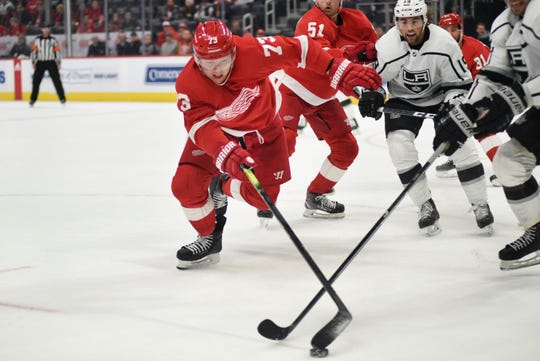 The Red Wings saw their short-lived two-game winning streak snapped Sunday by the Los Angeles Kings.