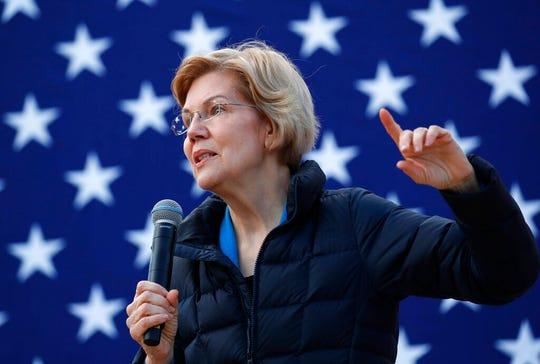 Presidential candidate Sen. Elizabeth Warren, D-Mass.
